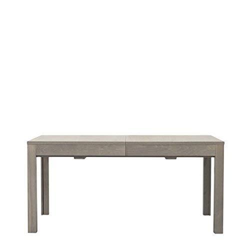 Fashion Commerce Table en chêne, Bois mélaminé, Gris, 160 x 90 x 35 cm