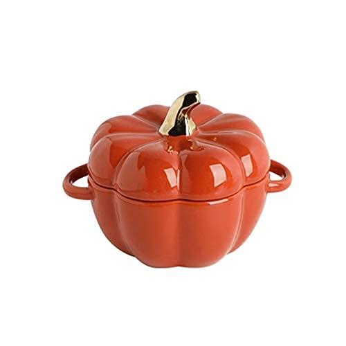 YNHNI Cuencos de Sopa Cerámica Souffle Platos para pudín, Crema Brulee, Souffle se Puede Usar Horno de IIN y lavavajillas de microondas Tazón de Cereal (Color : Orange)