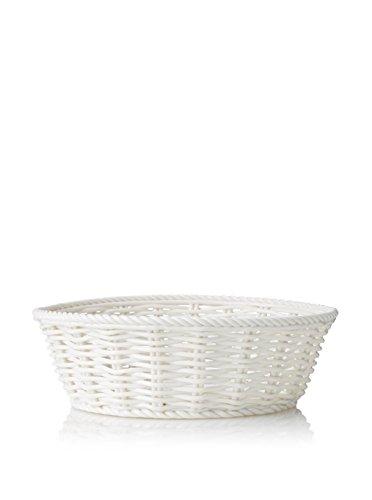 SELETTI La Cesta para el Pan, Porcelana, Blanco, 22x 7,5cm