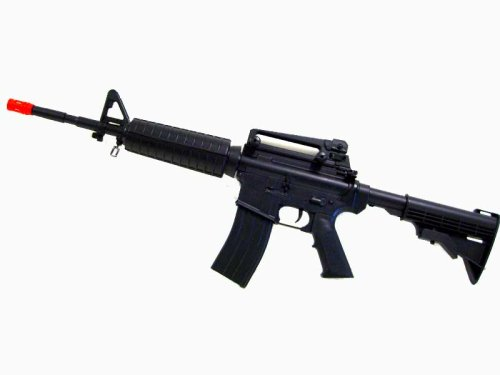 Starter Pack - M4 M16 Metal Gear Box 380 FPS Airsoft Full Auto Electric Rifle