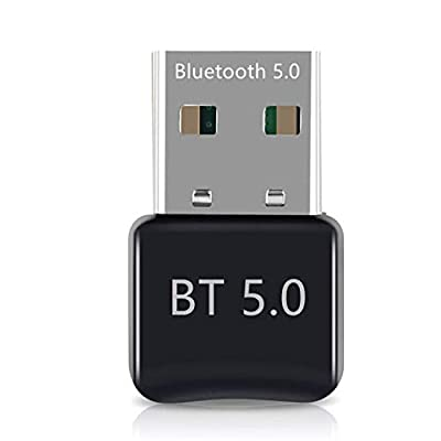 Bluetooth 5.0 USB Dongle Adapter, Bluetooth Transmitter Receiver for Headphones, Mouse, Keyboard, TV,Car, Speaker, USB Bluetooth 5.0 Adapter Supports Win 7/8/8.1/10 by LLM