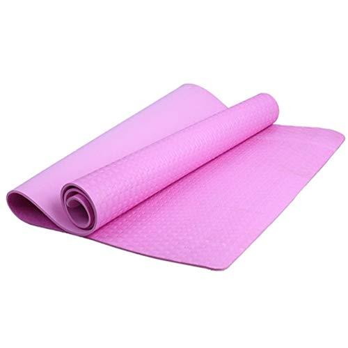 Estera de Yoga Pérdida de 4 mm de Grueso Durable Yoga Mat Antideslizante Deportes Estera de Peso Saludable y Fitness Bloque de Yoga (Color : Rosado)