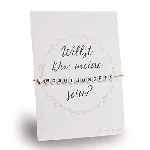 Armband Geschenk Brautjungfer fragen