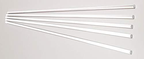 "5 Pcs 3 16"" Diameter x 36"" Long Clear Acrylic PLEXIGLASS Lucite Plastic Rod - .1875  Dia - 4.76mm"
