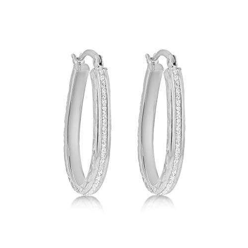 Tuscany Silver Pendientes de aro Mujer plata Plata fina 925 - 8.51.1969