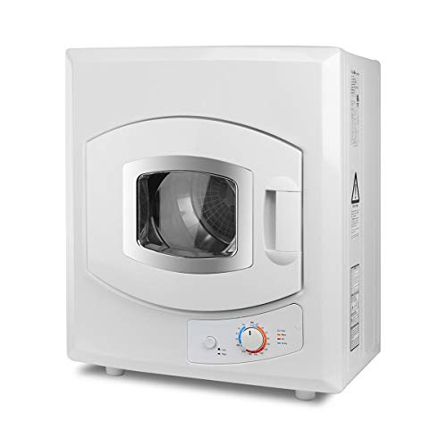 Commercial Compact Laundry Dryer Electric 1400 w. Tumble, Stainless Steel Mounted 8.8 lbs Cloth Capacity, Home Use