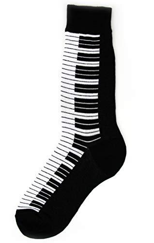 Foot Traffic, Men's Music-Themed Socks, Piano (Shoe Sizes 7-12)