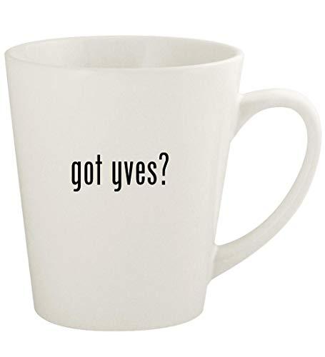 got yves? - 12oz Ceramic Latte Coffee Mug Cup, White
