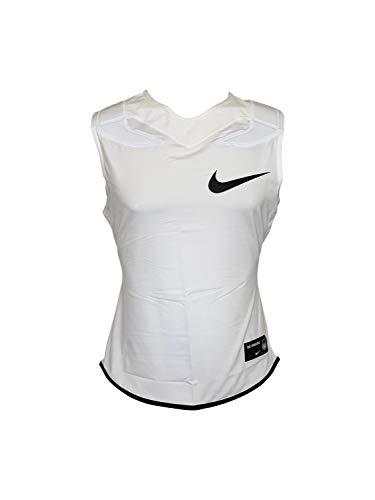 Nike Mens Vapor Speed Pro Sleeveless Football Top Dri-Fit Training Tank Top w/Shoulder Pads (X-Large, White/Black)
