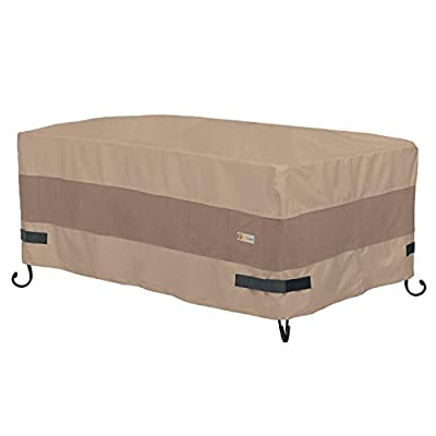 Duck Covers Elegant Waterproof 54 Inch Rectangle Fire Pit Cover