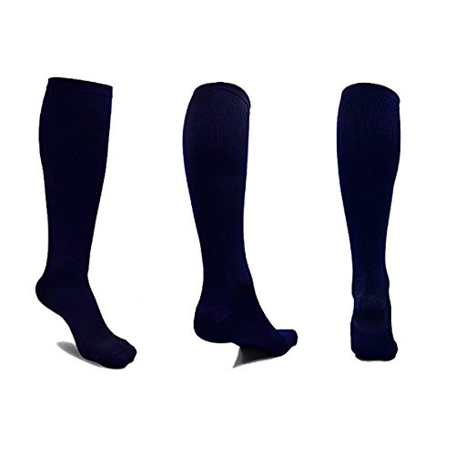 6 Pairs Compression Socks for Men and Women for Running, Nurses, Flight, Pregnancy & Maternity Large/X-Large...