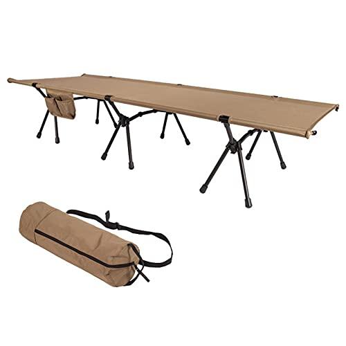 LOVOICE Cama de camping, cama de campamento, cama de campamento, ultraligera, plegable, individual portátil, para camping, playa, viajes, escalada