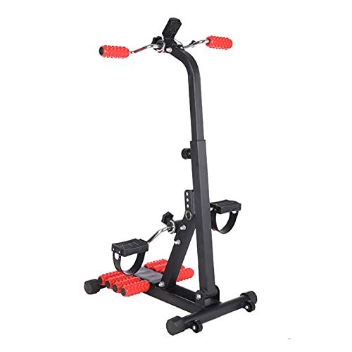HXFENA Bicicleta Estática, Entrenador De Pies Y Manos Móviles Ajustable con Masaje Y Pantalla, para Entrenamiento Físico En Casa