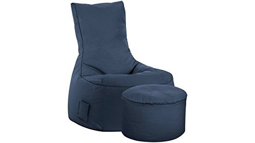 SITTING POINT only by MAGMA Sitzsack-Set Scuba Swing + Hocker Jeansblau
