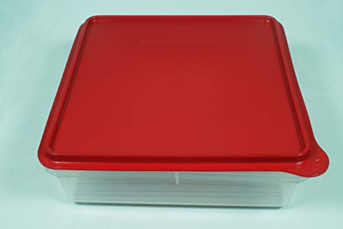 Tupperware Square Snack Stor Cookie Keeper Prep Essentials Storage Container Raspberry Red Seal