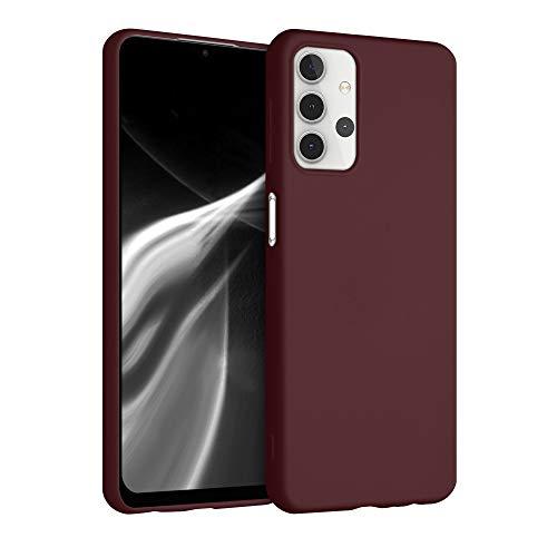 kwmobile Funda Compatible con Samsung Galaxy A32 5G - Carcasa de TPU Silicona - Protector Trasero en Rojo Vino