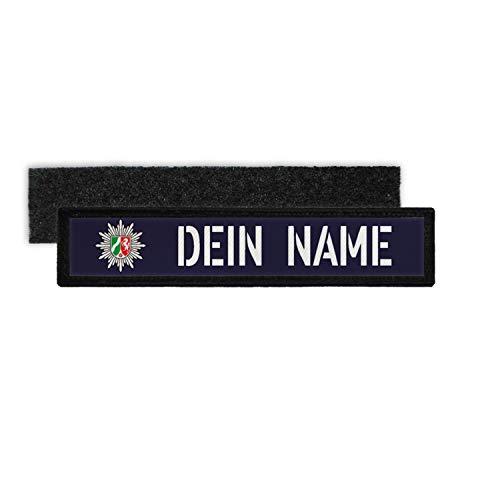 Copytec Patch Namens-Schild Polizei NRW Klett Streifen personalisiert mit Namen #35221