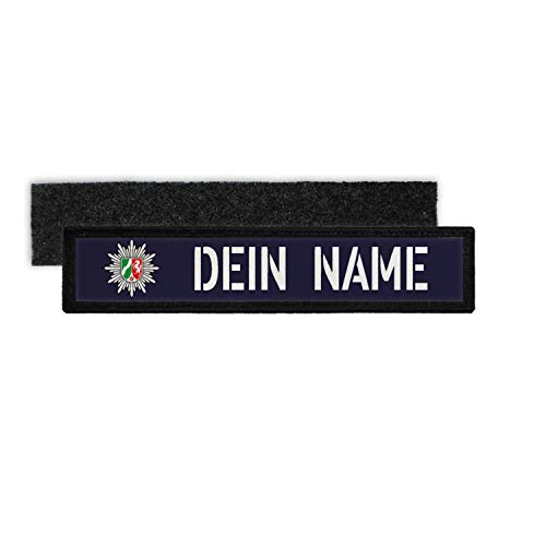 Copytec Patch Name Plate Police NRW Velcro Stripes Personalised with Name #35221