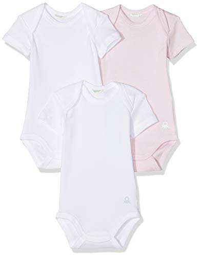 Undercolors of Benetton Lutk Basic 1 Body, Multicolor (Rosa/Bianco 003), 80/86 (Talla del...