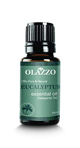Olazzo Eucalyptus 100% Pure Natural Aromatherapy Essential Oil Aroma Unilateral, for Diffusers Humidifier Oils Spa and Air Purifier (15ml)