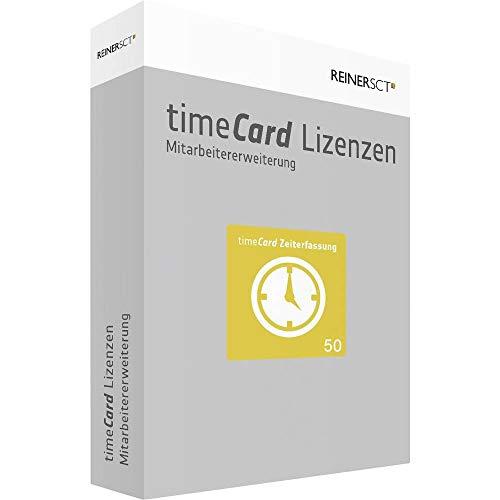 REINERSCT timeCard 6 Zeiterfassung  Erweiterungslizenz 50 z. Zeiterf. v. weiteren 50 Mitarbeitern ohne Chipkarte oder Transponder