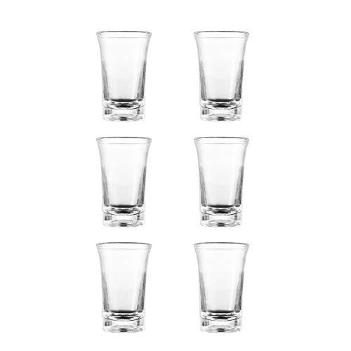 Aiboria Party Shots - Vasos de cristal para chupito (6 unidades, 35 ml, 6 dados)