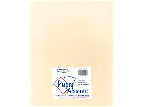 Accent Design Paper Accents Cdstk Smooth 8.5x11 75# Manila