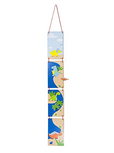 Messlatte Blau Dinosaurier für Jungen Kindergarten oder Kinderzimmer