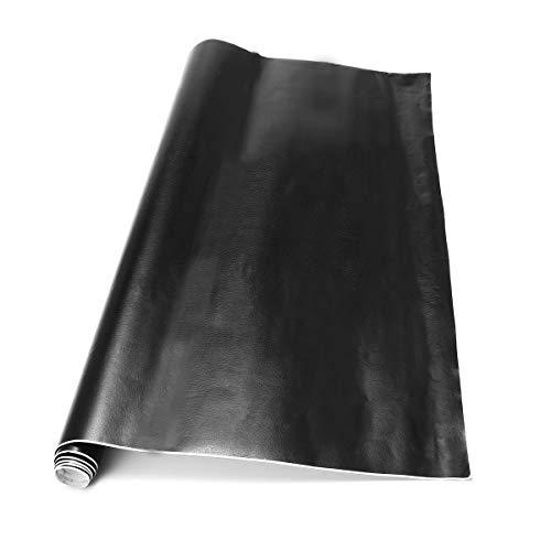 YONGYAO 50x100Cm Noir Voiture Vinyle Autocollants Cuir Grain PVC Intérieur Extérieur Enveloppe Autocollant