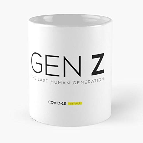 Gen Z - Covid-19 Classic Mug Gift The Office 11 Ounces Funny White Coffee Mugs Rafan