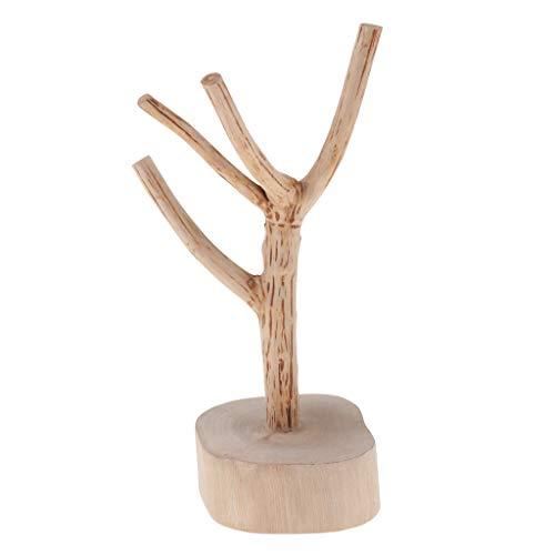 non-brand Kreative Schmuckständer Baum Form Halskette Halter Ohrstecker Halter Schmuckständer hölzerne Schmuck Halter