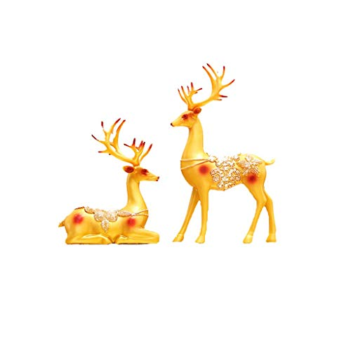 POETRY Estatua de Ciervo de la Suerte decoración de Resina de Estilo nórdico gabinete de Vino para el hogar Sala de Estar TV Porche Manualidades Creativas