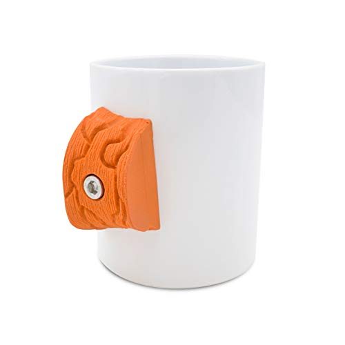 Climbing MUG (Orange) | Rock climber gift with real Climbing Holds | Strengthens your fingers