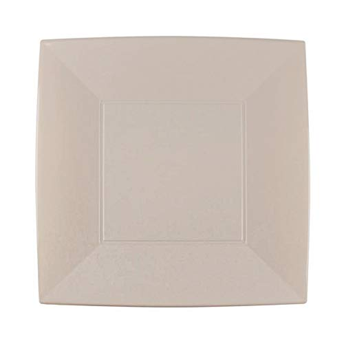 Assiettes plastique Nice grands 290 mm PP cfz 12PZ taupe