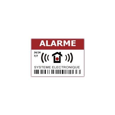 Stickers voor alarmsysteem, elektronisch, 24 uur, Logo 533, 12 stuks 4 cm