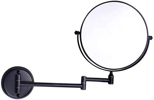 Makeup Mirror, Cosmetic Vanity Mirror Adjustable10X Magnified Premium Modern Black Wall Mounted Vanity Makeup Mirror8 Inches360° Rotating Function Chrome Extendable Swivel Mirror Best Qualit