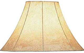 Lite Source CH116-16 Faux Leather Bell Shade, Brown