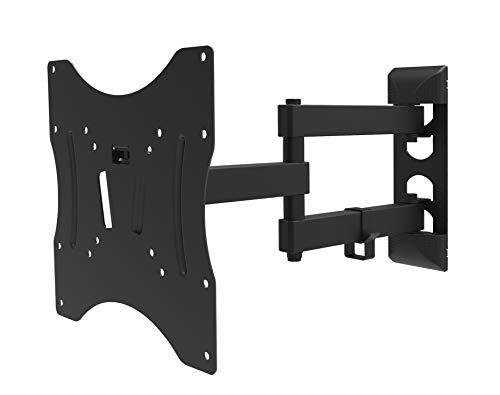 Techlink TWM203 Wandsteun met dubbele arm voor 17-43 inch schermen/monitoren met verstelbare kanteling, draaibaar en verlengbaar - Sony, Samsung, LG, Panasonic & Meer - Zwart