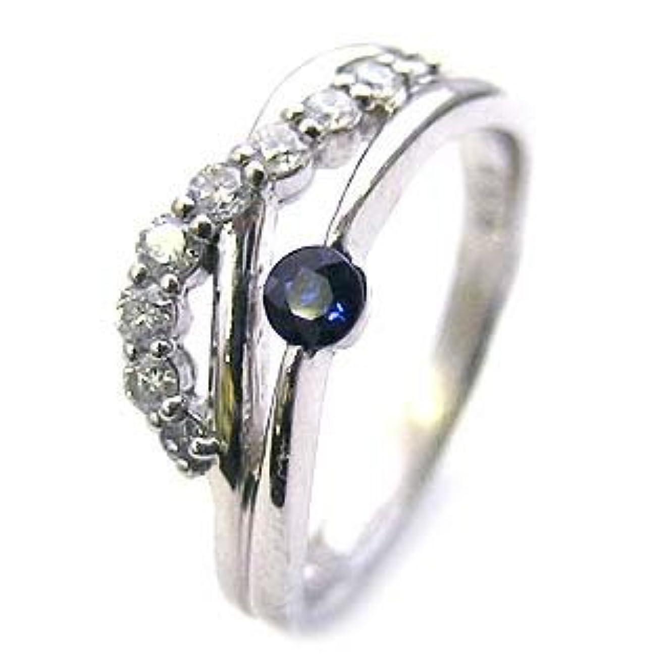 とても多くのオークランド裕福な( 婚約指輪 ) ダイヤモンド プラチナエンゲージリング( 9月誕生石 ) サファイア #14