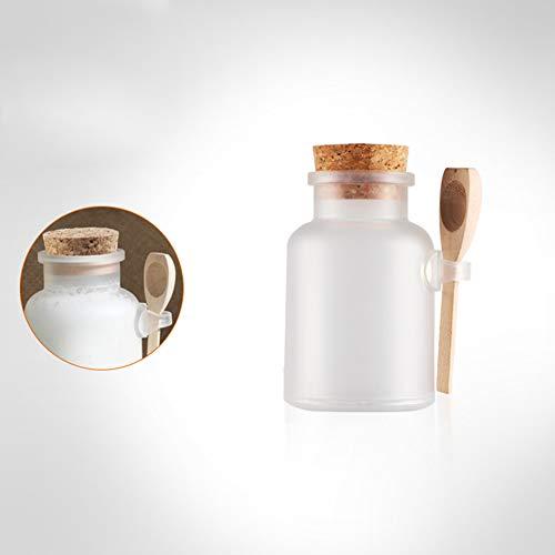 FairOnly 100ml Scrub bad zout ABS fles met houten deksel lepel kurk opslag Stopper fles Frosted Seal Jar Thuis badkamer creatieve artikelen