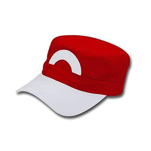 LACKINGONE Anime Cosplay Cap Pokémon Pocket Monsters Ash Ketchum Satoshi Snapback Hat Baseball Cap
