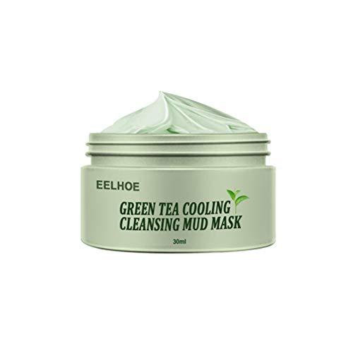 WLPTION Té Verde Arcilla Purificante Control de Aceite Tratamientos faciales Anti-Acné Limpieza Profunda Sólido Reducción de poros Hidratante Exfoliante