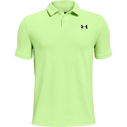 Under Armour Boys' Performance Golf Polo , Summer Lime (162)/Academy Blue , Youth X-Small