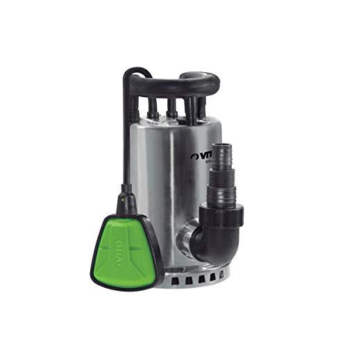 Vitogarden - Bomba de evacuación de agua clara (550 W, vacío, agua de lluvia, cavos/piscinas, acero inoxidable, cable 10 m)