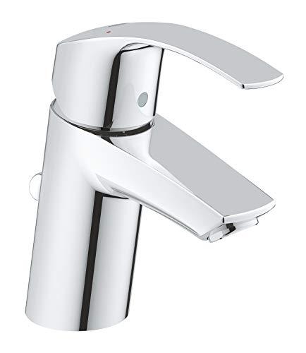 GROHE Eurosmart | Badarmatur - Einhand-Waschtischbatterie, mit Einlochmontage & Keramikkartusche | S-Size | chrom | 33265002