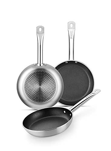 MONIX Profesional Set Sartenes 20 - 24 - 28 cm antiadherentes aptas para todo tipo de cocinas e...