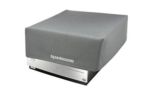 DigitalDeckCovers Scanner Dust Cover & Protector for Epson V700 / V750 / V750-M Pro / V800 / V850 Photo Film Scanners [Antistatic, Water Resistant, Dust-Proof, Premium Heavy Duty Fabric, Silver]
