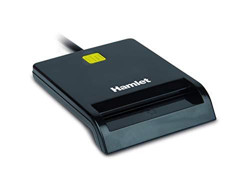 Hamlet HUSCR311C- Lettore Smart Card USB Type-C per Firma Digitale, Camera di Commercio e Tessera Sanitaria