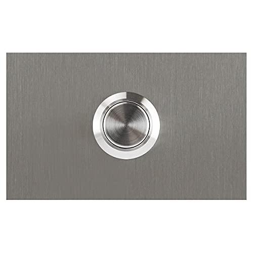 MOCAVI RING 130 Design-Klingel Edelstahl V2A recht-eckig, Klingeltaster silber Edelstahl, Klingelplatte