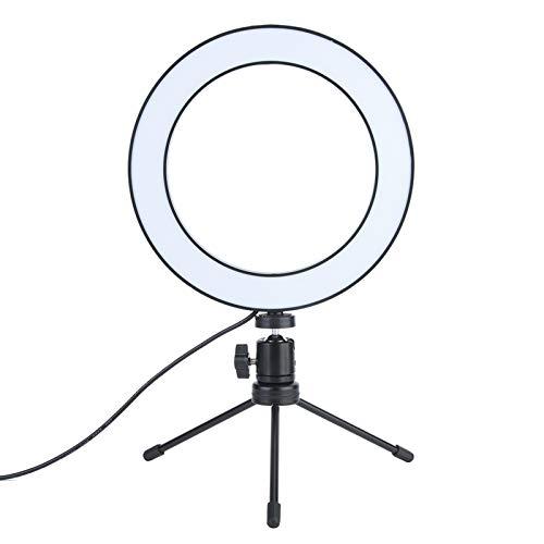 DAUERHAFT Plástico de Baja Falla + Metal Decaimiento de Poca luz Tamaño pequeño Luz de Relleno de fotografía Ultraligera Lámpara de Relleno de Video LED, para Diferentes situaciones de Disparo